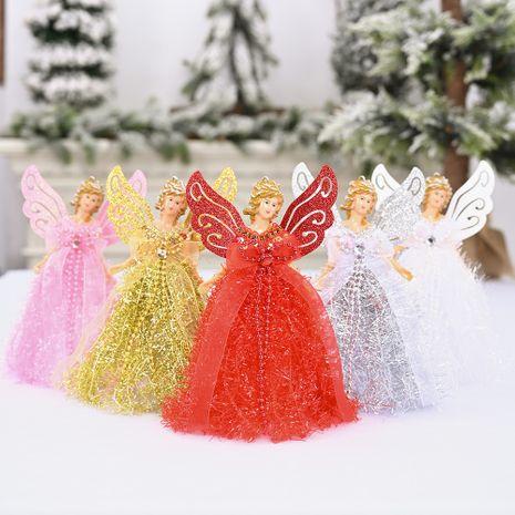 nouvelle décoration de Noël fournitures ailes d'ange ornements en peluche debout ange décoration de bureau en gros NHHB262249's discount tags