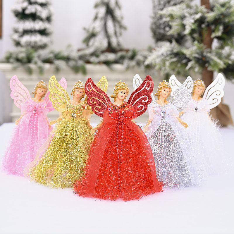 new Christmas decoration supplies angel wings ornaments plush standing angel desktop decoration wholesale NHHB262249