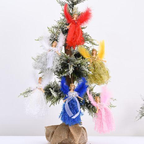 Nouvelle décoration de Noël pendentif aile ange pendentif petit arbre sangle pendentif poupée NHHB262250's discount tags