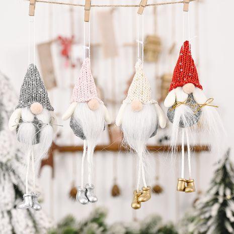 chapeau tricoté jambes suspendues forêt vieil homme pendentif créatif ornements d'arbre de poupée sans visage NHHB262258's discount tags