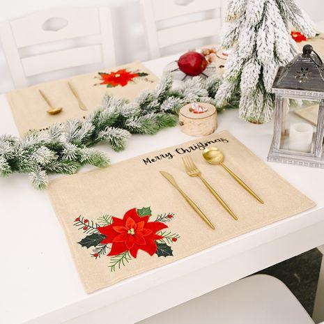 nouvelle décoration de jour de Noël fournitures grande fleur rouge atmosphère mise en page tapis de table nappe nappe NHHB262259's discount tags