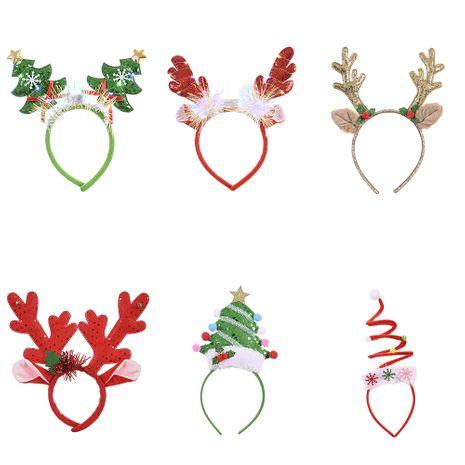 Boucle de tête créative Boucle de tête pour enfants adultes de Noël avec des lumières Bandeau d'arbre de Noël NHHB262262's discount tags