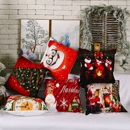 nuevos adornos navideños funda de almohada de franela creativa NHHB262266