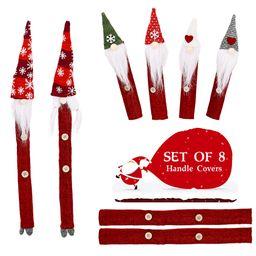 Nuevos adornos navideños Snowflake Forest Cubierta protectora de microondas NHHB262268