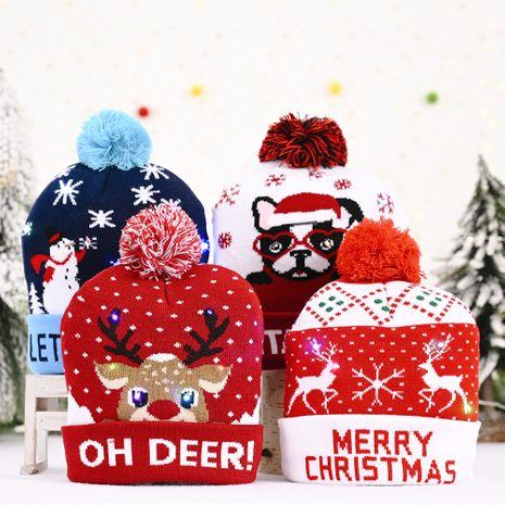 Décorations de Noël Décorations de bonnet tricoté à piles remplaçables NHHB262274's discount tags