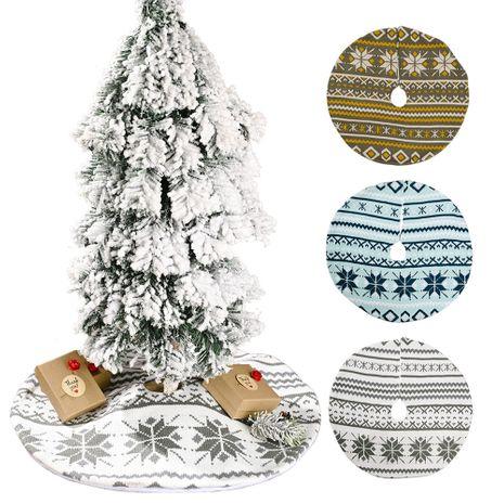 Fournitures de décoration de Noël jupe d'arbre de flocon de neige tricoté mini décoration de jupe d'arbre de Noël NHHB262276's discount tags