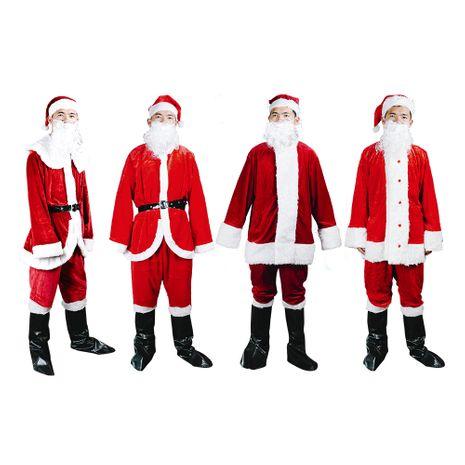 Décorations de Noël Vêtements du Père Noël Vêtements pour hommes Ensemble de vêtements d'ambiance festive NHHB262277's discount tags