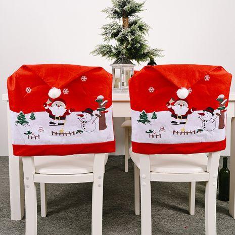Décorations de Noël Creative Non-tissé Old Man Snowman Chair Cover NHHB262281's discount tags