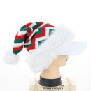 Christmas decoration supplies knitted long woolen Christmas hat red and green Santa hat plush hat wholesale NHHB262284