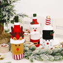 Christmas Decoration Knitted Flannel Cartoon Wine Bottle Cover Creative Cartoon Old Man Wine Bottle Cover Elk Wine Bottle Bag NHHB262285