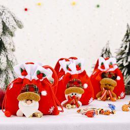 Decoración navideña Creativa Nueva campana de franela Bolsa de manzana Viejo muñeco de nieve Bolsa de regalo Bolsa de dulces NHHB262286