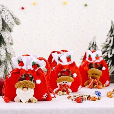 Décoration de Noël créatif nouveau sac de pomme de cloche de flanelle vieil homme bonhomme de neige sac cadeau sac de bonbons NHHB262286's discount tags