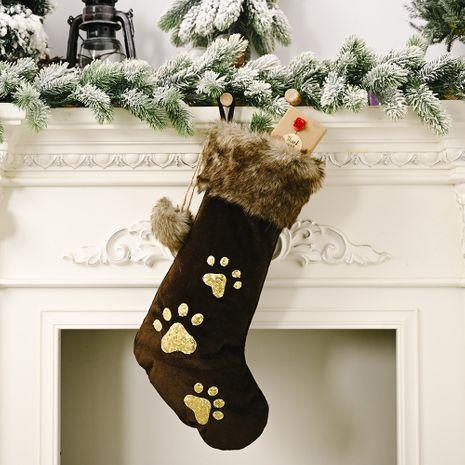 Ornements de Noël paillettes patte de chien chaussettes de Noël NHHB262289's discount tags