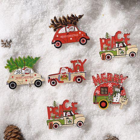 Decoraciones navideñas Pegatinas de madera para coches de Navidad NHHB262291's discount tags