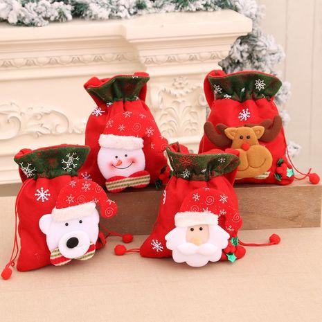 Décorations de Noël Sac cadeau en trois dimensions pour enfants Poche portable à impression rétro NHMV262300's discount tags