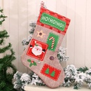 New Extra Large Linen Letter Christmas Stocking Christmas Gift Bag Ornament NHMV262308