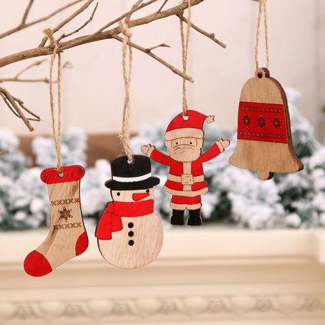 Christmas painted wooden small pendants Christmas tree twine pendants wholesale  NHMV262318's discount tags