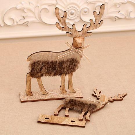 Cerf de Noël en bois assemblé ornements de cerf de Noël NHMV262319's discount tags