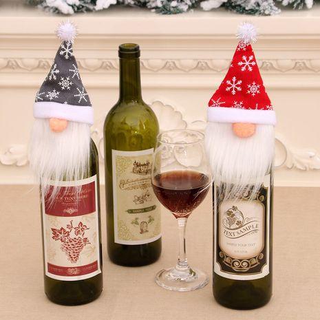 Vente chaude mode bouteille de vin ensembles table à manger décorations pour la maison personnes âgées sans visage NHMV262321's discount tags