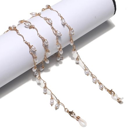 Mode handgemachte Kette Wassertropfen Perle Gläser Kette Seil e Kette NHBC262347's discount tags