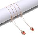 Nonslip popular metal glasses rope gold Christmas bow pendant glasses chain  NHBC262349