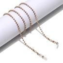 Multicolor bead chain fashion sunglasses antiskid hanging chain glasses chain  NHBC262354