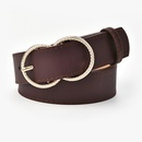 New style double ring buckle ladies retro coat belt fashion allmatch jeans belt wholesale NHPO262360