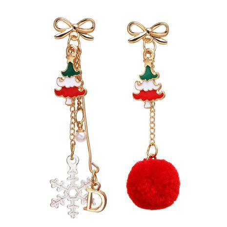 hair ball letter D snowflake pendant earrings   NHPJ262380's discount tags