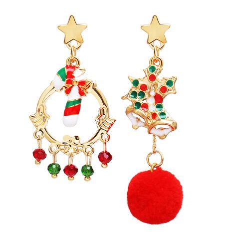 new star hair ball candy pendant creative Christmas earrings wholesale NHPJ262384's discount tags