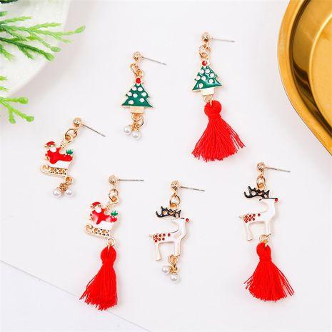 tassel long section dripping oil cute creative  earrings NHLA262387's discount tags