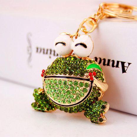 creative diamond cute cartoon frog car keychain bag accessories key chain metal pendant NHAK262409's discount tags