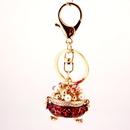 creative crystal incense burner cornucopia keychain NHAK262426