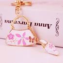 cute creative ladies handbag shape car keychain NHAK262428