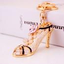 Creative cute diamondstudded crystal ladies high heels keychain  NHAK262436