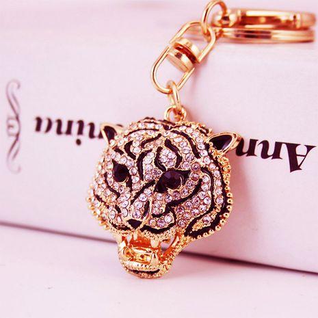 Creative diamond crafts leopard head key chain pendant men's key chain  NHAK262438's discount tags