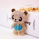 Creative cute cartoon diamondstudded red panda  keychain  NHAK262443