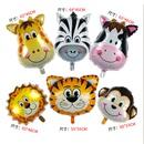 Hot Selling Animal Tiger Lion Head Aluminum Film Balloon Theme Decoration Cartoon Forest Air Balloon NHAH262477