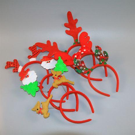 Bandeau de bois de Noël petite boucle de tête d'élan ancien bandeau de bonhomme de neige NHAH262478's discount tags