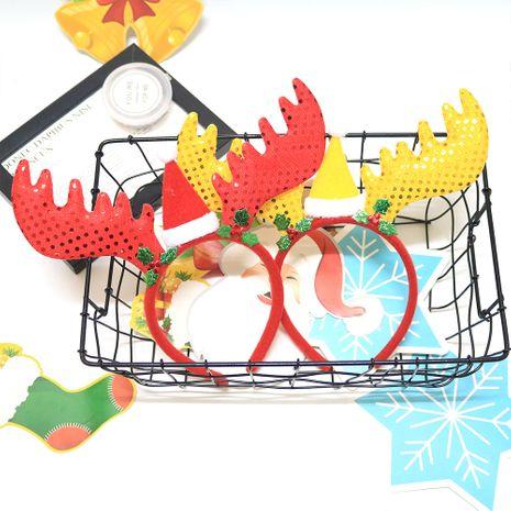 Chapeaux Personnages de fête Habillage Bandeau Antlers Bandeau d'ambiance de Noël Bandeau NHAH262480's discount tags