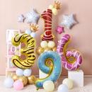 New digital donut birthday party 32 inch ice cream aluminum foil digital balloon NHAH262481