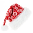 NHHB1146499-Knitted-Long-Fringed-Christmas-Hat-Snowflake