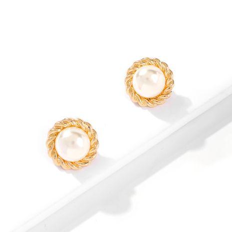 aretes de perlas de aleación simple para mujer NHMD262949's discount tags