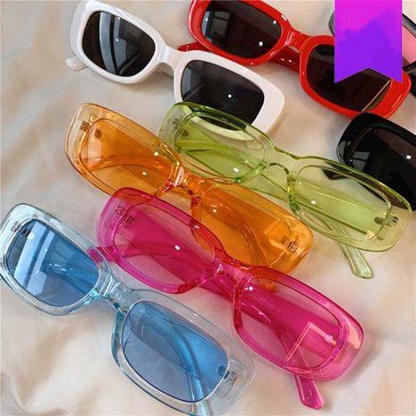 señoras nueva tendencia moda gafas de sol rectangulares gafas de sol retro NHKD262128's discount tags