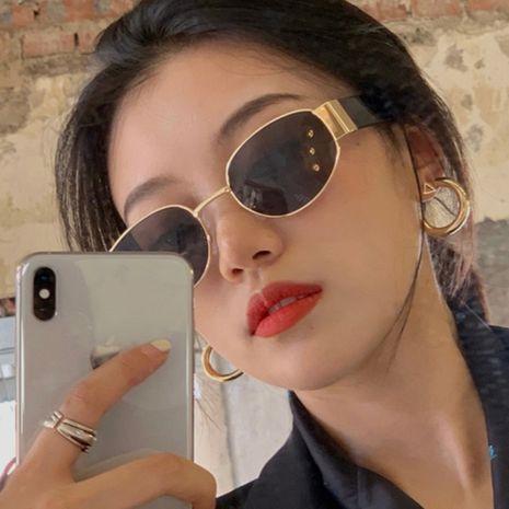 Gafas de sol retro calientes del hip hop del pequeño marco al por mayor NHKD262129's discount tags