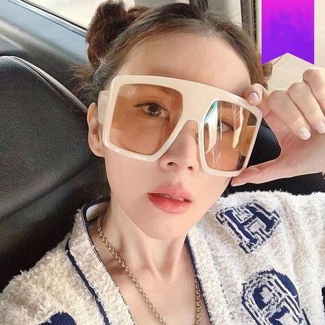 Gafas de sol bicolor retro de moda cuadrada con montura grande NHKD262131's discount tags