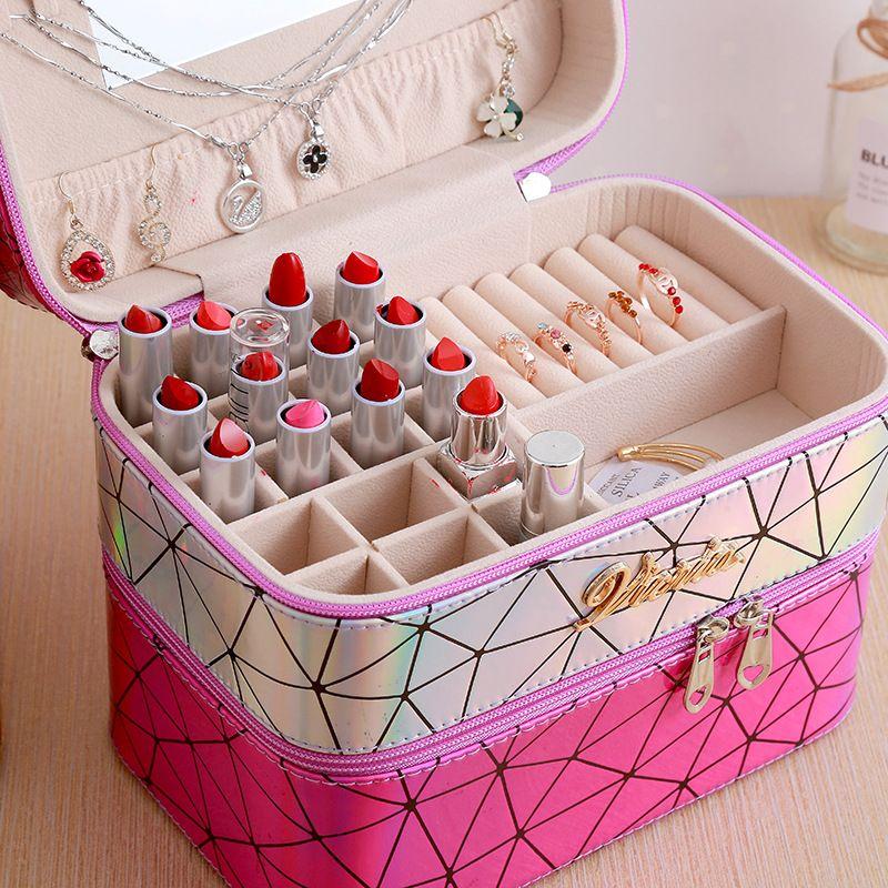 Korean multifunctional portable cosmetic case tool box jewelry storage box NHHO262141