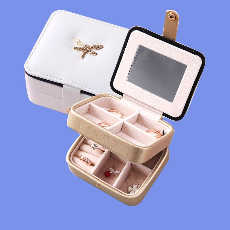 Double-layer portable simple jewelry box  NHHO262146