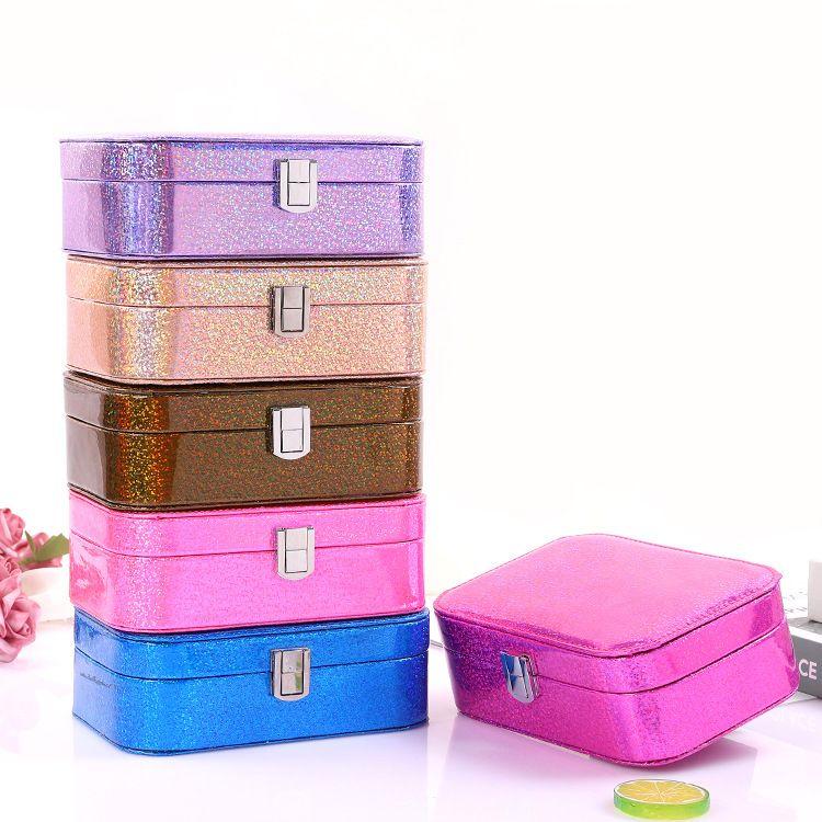 leather portable jewelry box cosmetic storage box  NHHO262147