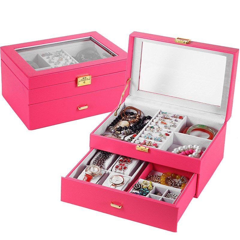 new watch box leather jewelry box wooden jewelry storage box NHHW262154