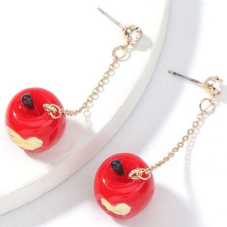 Christmas series creative love apple earrings NHJE262490's discount tags
